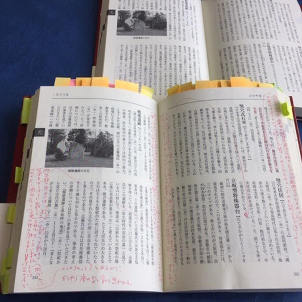 改訂版をつくるときにはと手渡された、赤字と付箋の校正用の本が今も手元に残っている。(画像2)